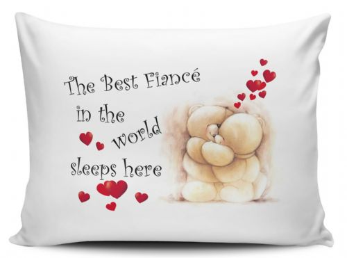 The Best Fiancé In The World Sleeps Here Pillow Case